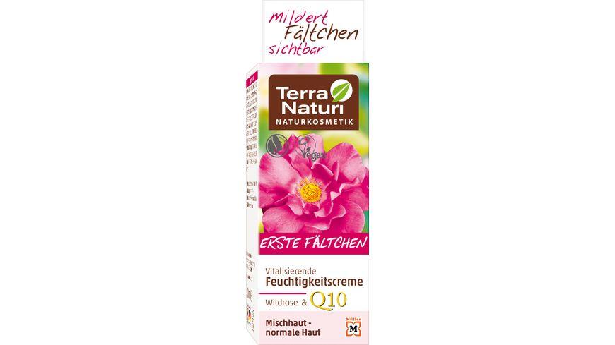 Terra Naturi Erste Faeltchen vitalisierende Feuchtigkeitscreme Wildrose Q10