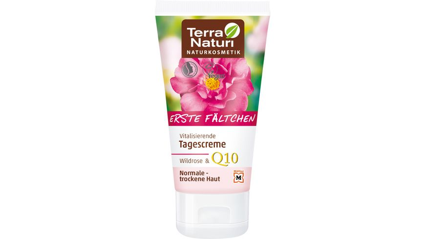 Terra Naturi Erste Faeltchen vitalisierende Tagescreme Wildrose Q10