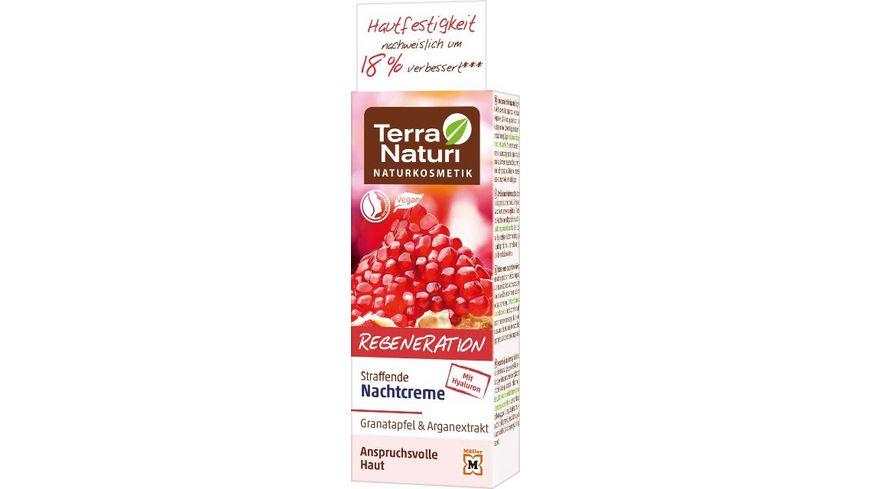 Terra Naturi Regeneration straffende Nachtcreme Granatapfel Arganextrakt