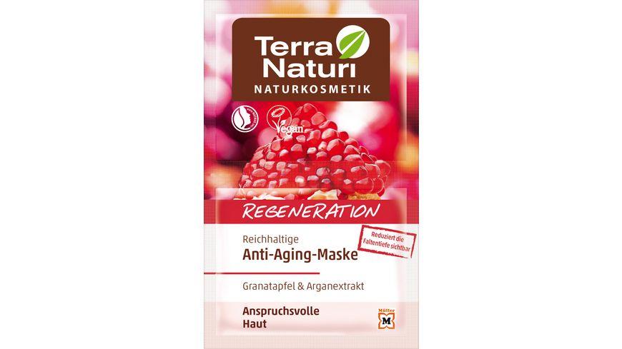 Terra Naturi Naturkosmetik Regeneration reichhaltige Anti Aging Maske Granatapfel Arganextrakt