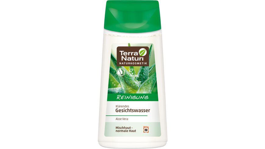 Terra Naturi Reinigung klaerendes Gesichtswasser Aloe Vera