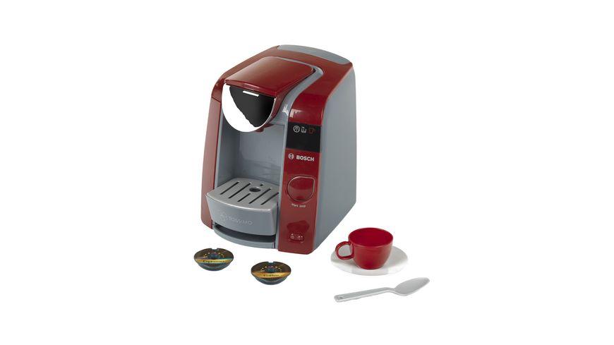 Theo Klein 9543 Bosch Tassimo Kaffeemaschine | Mit Wassereinfüllmöglichkeit und Wasserdurchlauf mit Sound | Inklusive Espresso-Set | Maße: 20 cm x 16 cm x 20 cm | Spielzeug für Kinder ab 3 Jahren