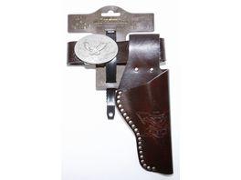 J G Schroedel Lederimitatguertel Eagle mit Nieten 95 135cm 1 Tasche Tester