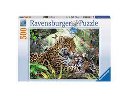 Ravensburger Puzzle Jaguar Nachwuchs 500 Teile