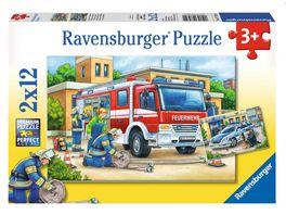 Ravensburger Puzzle Polizei und Feuerwehr 2x12 Teile
