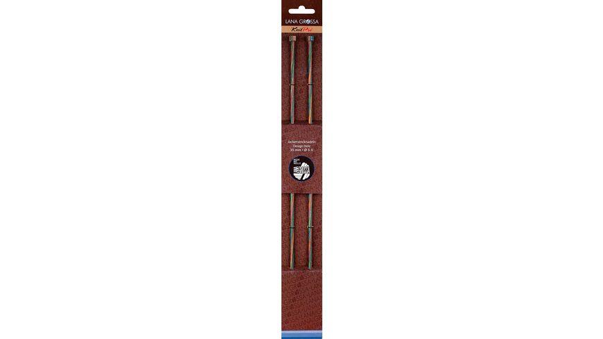 Lana Grossa Jackenstricknadel Holz 35 cm Staerke 5