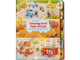 Buch ARENA Unterwegs durch Stadt und Land Mein grosses Fahrzeug Wimmelbuch