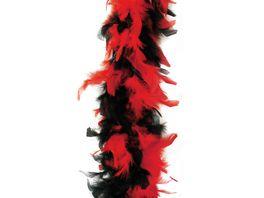 Fries 36323 Federboa 180cm schwarz rot