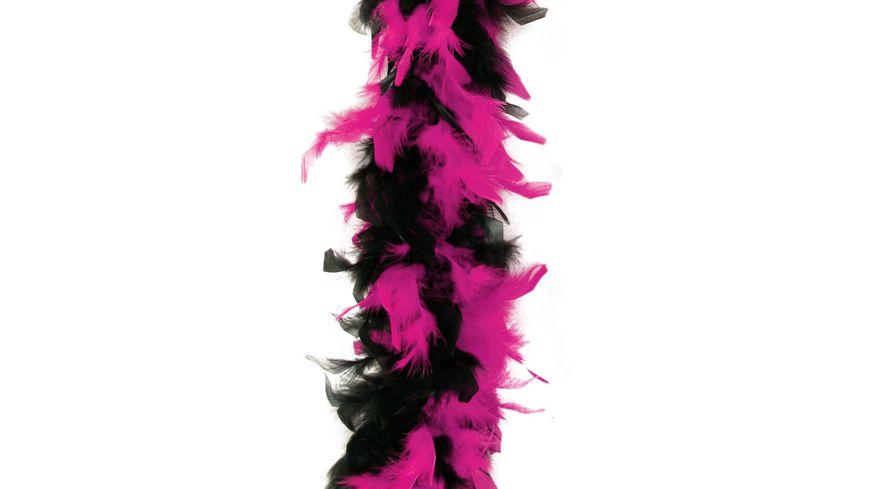 Fries Federboa 180cm schwarz pink
