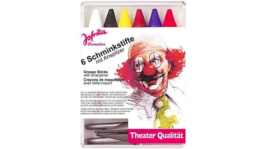 Jofrika 6 Schminkstifte mit Spitzer
