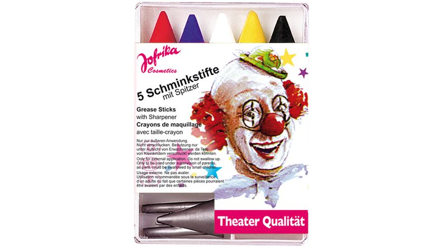 Jofrika 5 Schminkstifte mit Spitzer