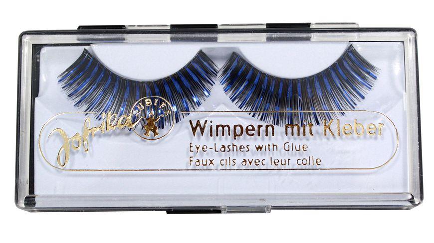 Jofrika Glitter Wimpern Blau