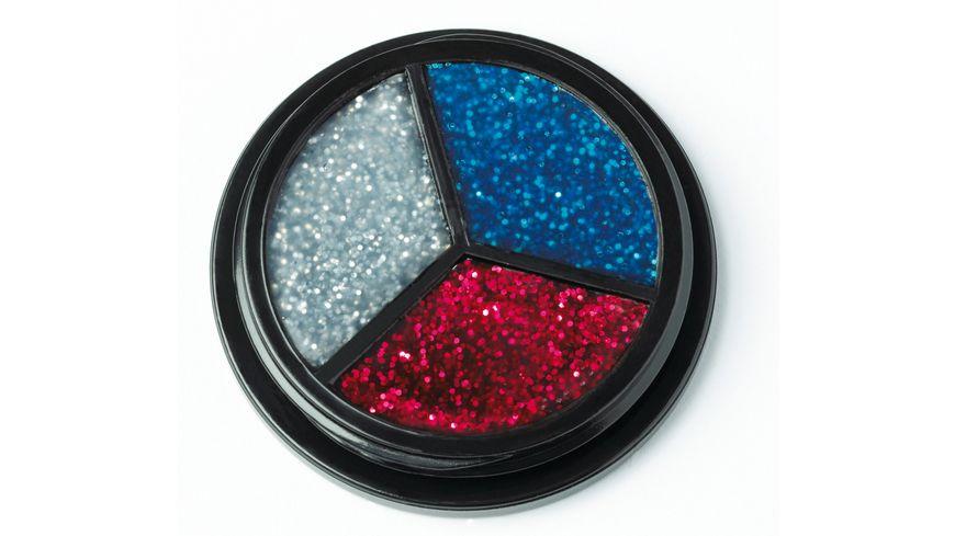 Jofrika Glitter Trio Rot Silber Blau
