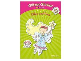 Tessloff Glitzer Sticker Malbuch Elfen und Feen