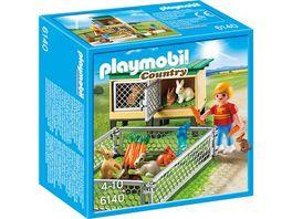PLAYMOBIL 6140 Country Bauernhof Hasenstall mit Freigehege