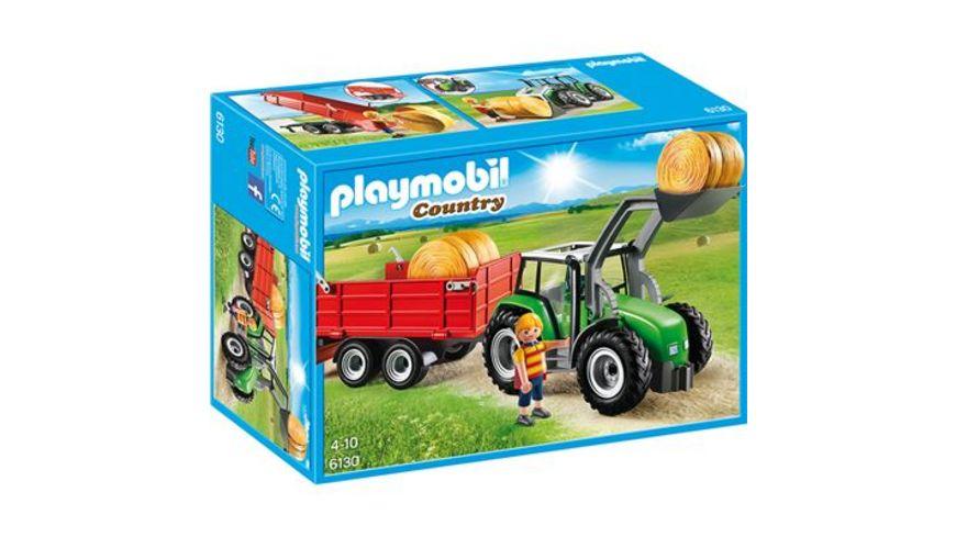 PLAYMOBIL 6130 Country Bauernhof Grosser Traktor mit Anhaenger