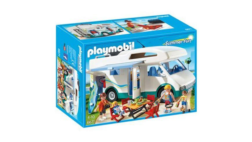 PLAYMOBIL 6671 Summer Fun Aquapark Familien Wohnmobil