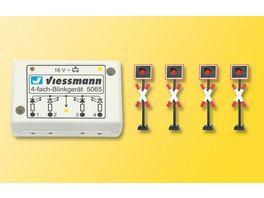 Viessmann 5835 H0 Andreaskreuze 4 Stueck mit Blinkelektronik