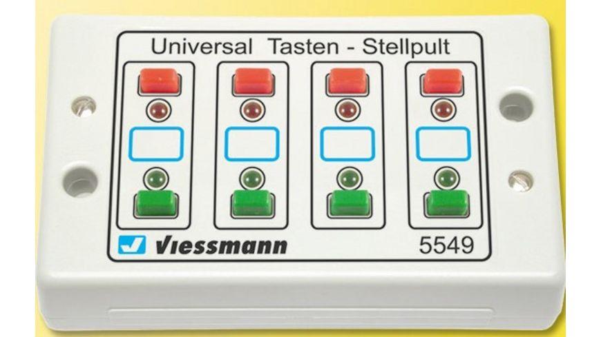 Viessmann 5549 Universal Tasten Stellpult rueckmeldefaehig 2 begriffig