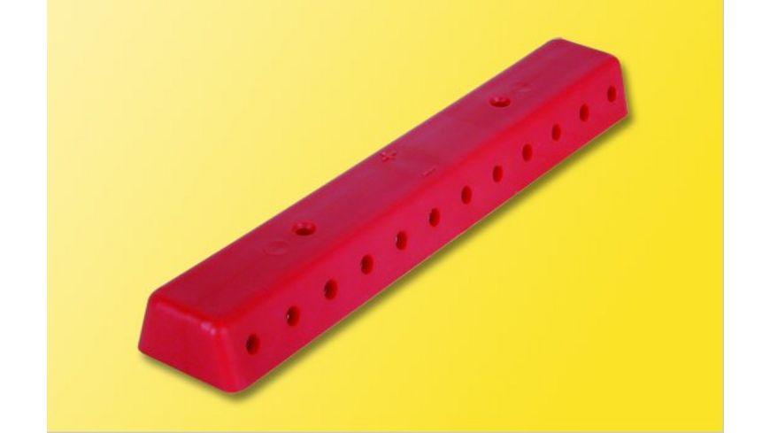Viessmann 6844 Verteilerleiste rot mit Schrauben 2 Stueck