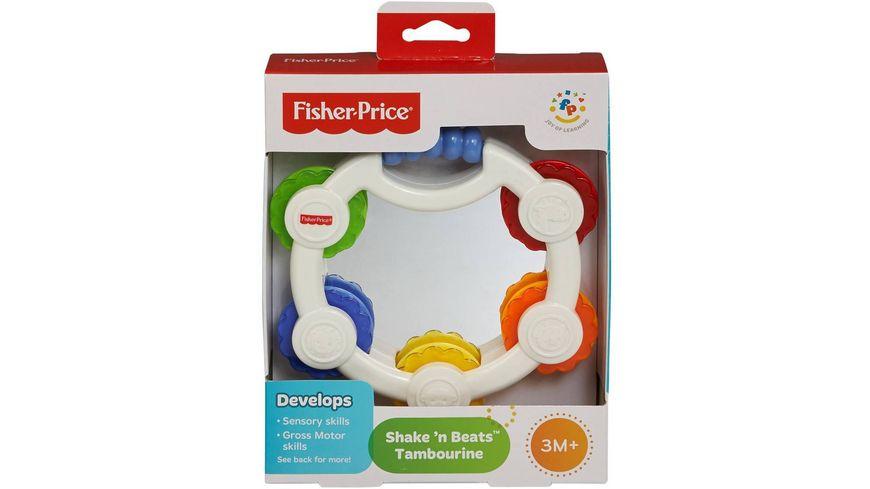 Fisher-Price Babys erstes Tamburin, Baby-Spielzeug, Rassel, Baby Musik-Instrument