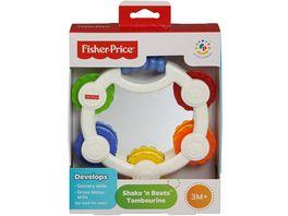 Fisher Price Babys erstes Tamburin Baby Spielzeug Rassel Baby Musik Instrument