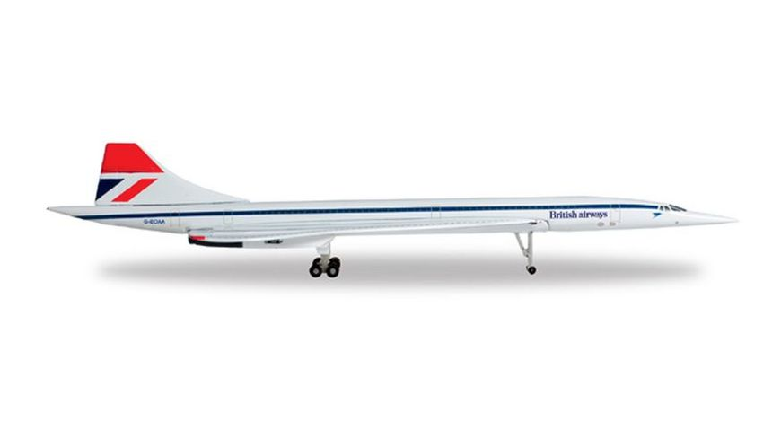 Herpa 527477 Wings British Airways Aerospatiale BAC Concorde Negus colors
