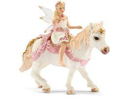 Schleich bayala Lilienzarte Elfe auf Pony reitend