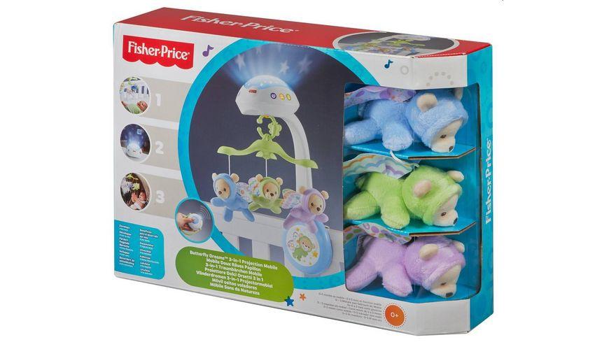 Fisher-Price 3-in-1 Traumbärchen Baby Mobile, Spieluhr, Nachtlicht mit Musik