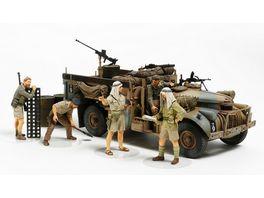 Tamiya 300032407 Militaer 1 35 Brit LRDG Befehlswagen mit 7 Figuren