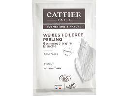CATTIER Weisse Heilerde Peeling fuer alle Hauttypen Einmalanwendung
