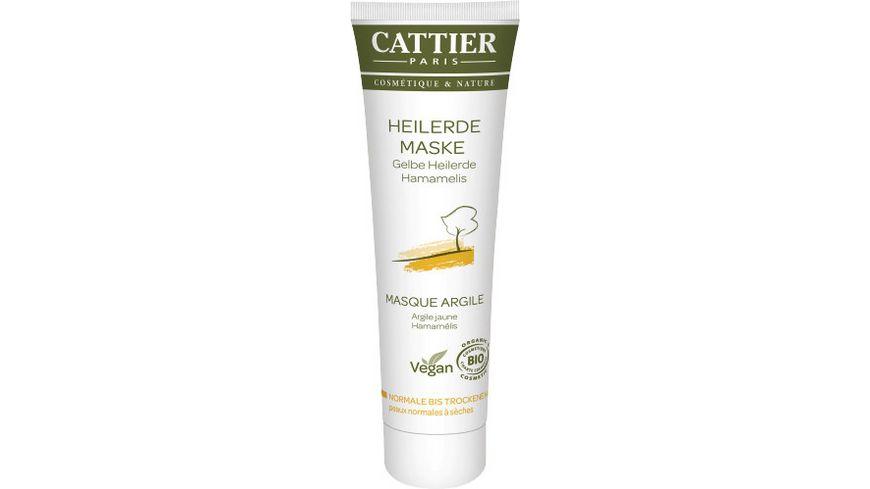 CATTIER Gelbe Heilerde Maske fuer normale bis trockene Haut