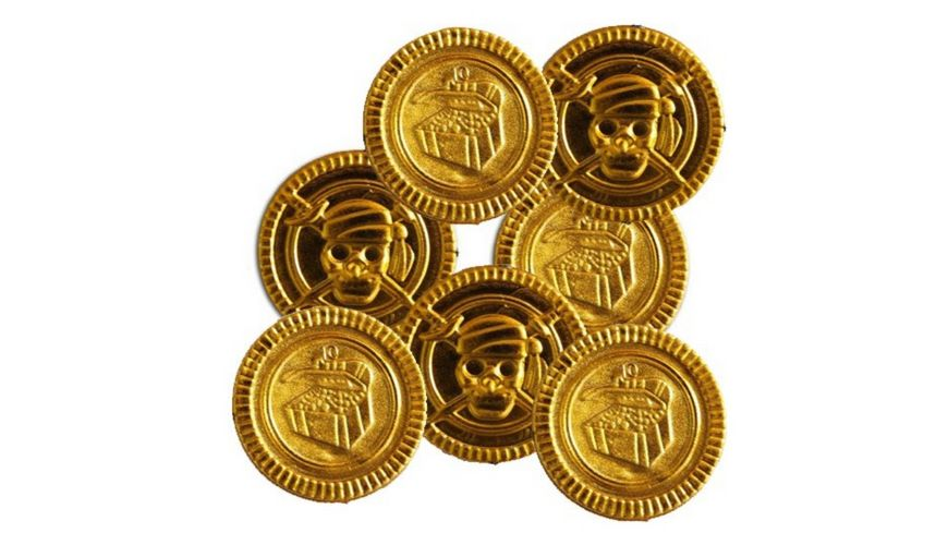 Piraten Gold Muenzen 100 Stueck