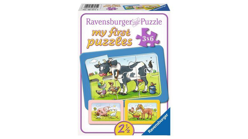 Ravensburger Puzzle my first Rahmenpuzzle Gute Tierfreunde 6 Teile