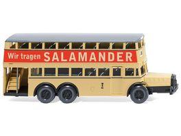 WIKING 087304 Berliner Doppeldeckerbus D 38 Salamander