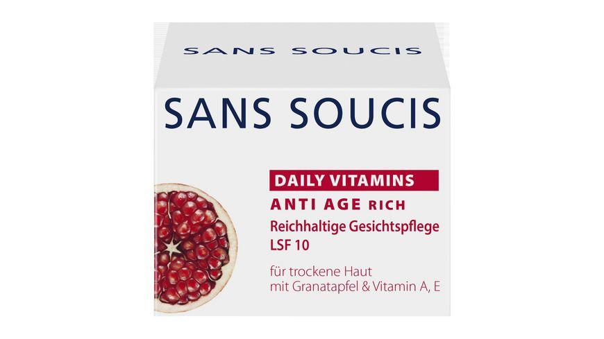 SANS SOUCIS Daily Vitamins Anti Age rich Reichhaltige Gesichtspflege LSF 10