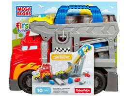 Fisher Price Mega Bloks First Builders Fast Tracks Rennwagen Transporter