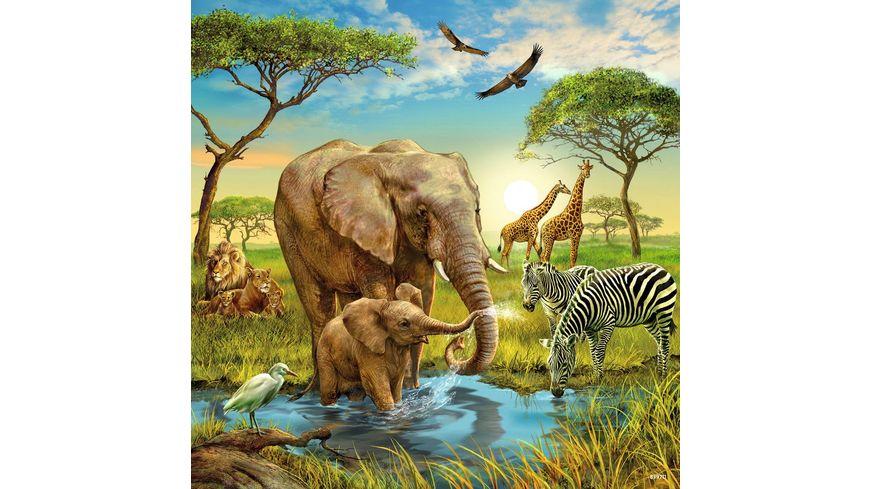 Ravensburger Puzzle Tiere der Erde 3x49 Teile