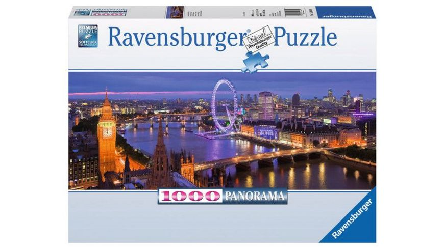 Ravensburger Puzzle Panorama Puzzle London bei Nacht 1000 Teile