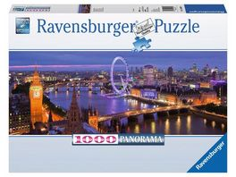 Ravensburger Puzzle Panorama Puzzle London bei Nacht 1000 Teile