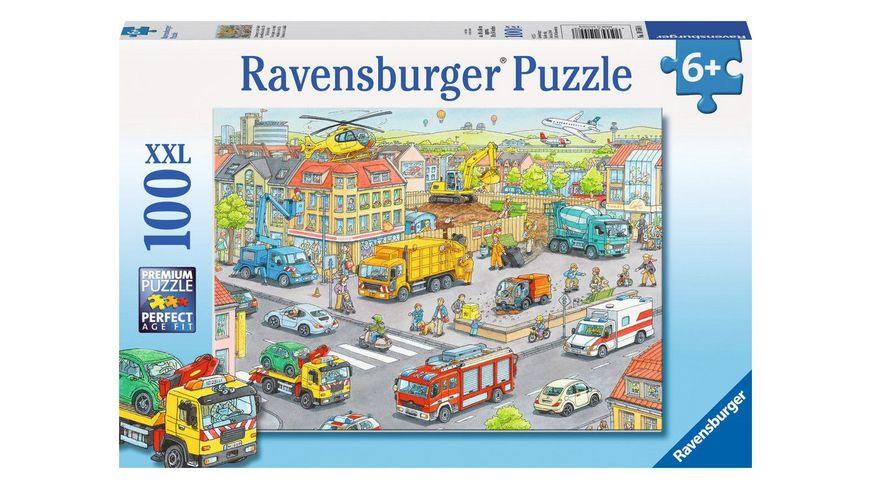 Ravensburger Puzzle Fahrzeuge in der Stadt 100 XXL Teile