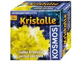 KOSMOS Experimentierkaesten Mitbringkristalle Gelb