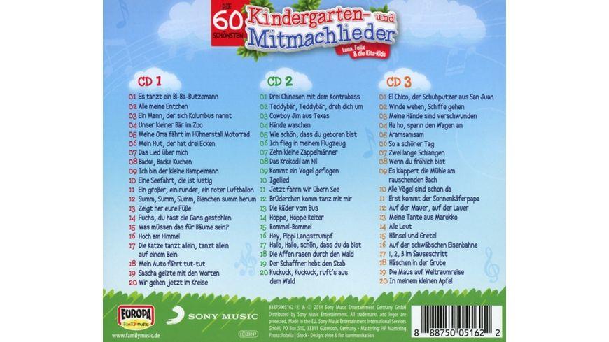 Die 60 schoensten Kindergarten und Mitmachlieder