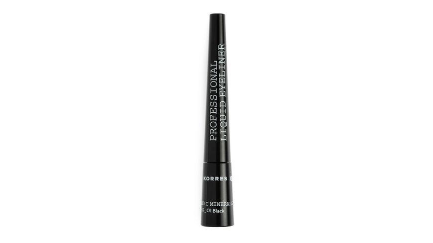 KORRES Black Liquid Eyeliner Black Volcanic