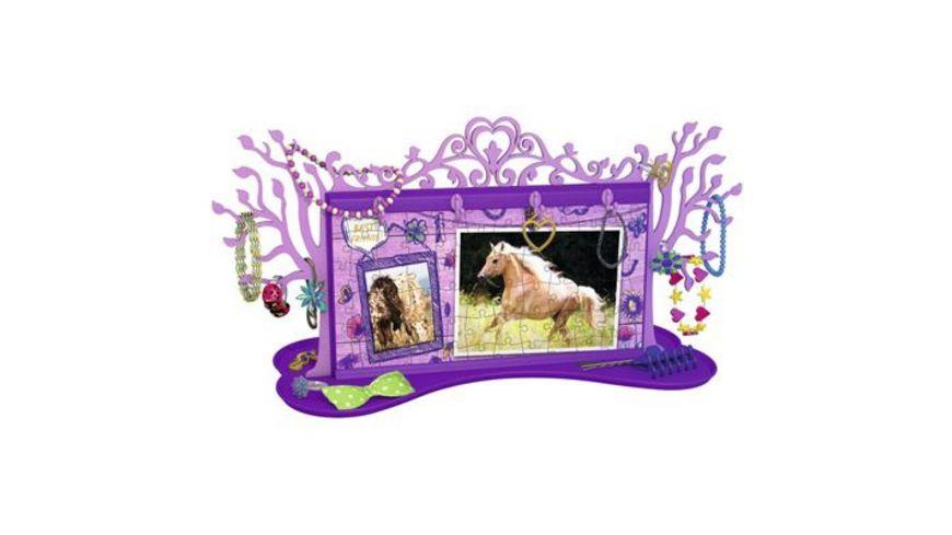 Ravensburger Puzzle 3D Puzzles Girly Girl Schmuckbaeumchen Pferde 108 Teile