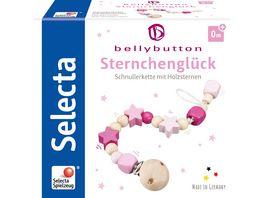 bellybutton by Selecta Sternchenglueck Schnullerkette rosa