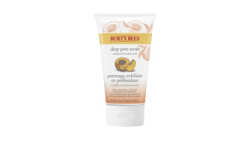 BURT S BEES Peach Willobark Deep Pore Scrub