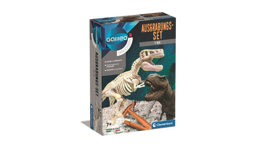 Clementoni Galileo Ausgrabungs Set T Rex fluoreszierend
