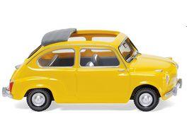 WIKING 009905 Fiat 600 m offenem Faltdach gelb