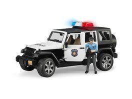 BRUDER Jeep Wrangler Unlimited Rubicon Polizeifahrzeug mit Polizist 02526